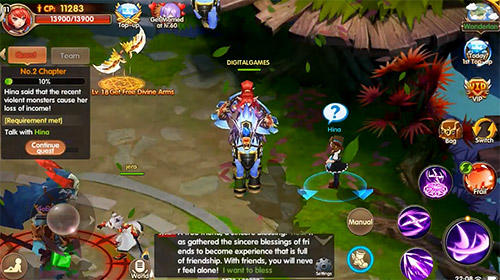RPG Chasseur lumineux pour smartphone