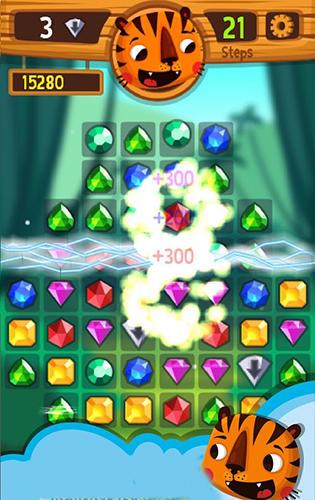 Arcade Tiger: The gems hunter match 3 für das Smartphone