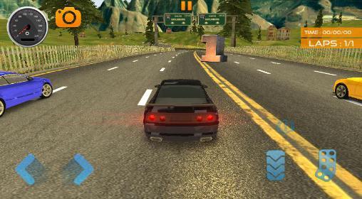Fast lane car racer für Android