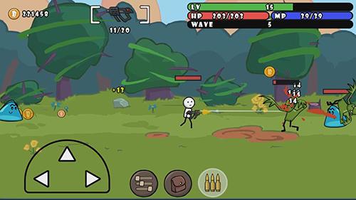 Actionspiele One gun: Stickman für das Smartphone