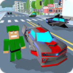 Blocky hover car: City heroesіконка