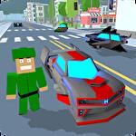 Blocky hover car: City heroes Symbol