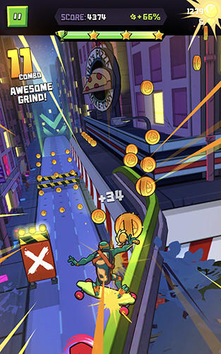 Rise of the TMNT: Ninja run Screenshot