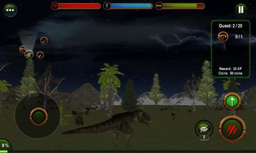 Spiele über Tiere Dinosaur revenge 3D auf Deutsch