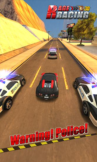 Rennspiele Rage racing 3D für das Smartphone