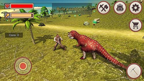 Action Jurassic dino island survival 3D für das Smartphone