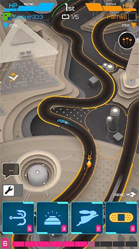 Rennspiele Hyperdrome: Tactical battle racing für das Smartphone