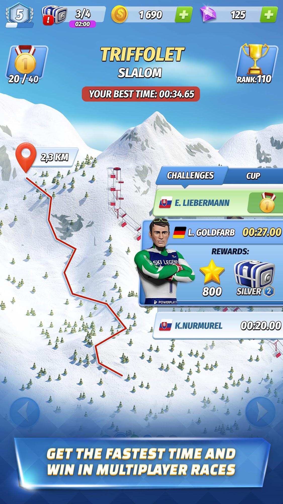 Ski Legends Screenshot-Spiel