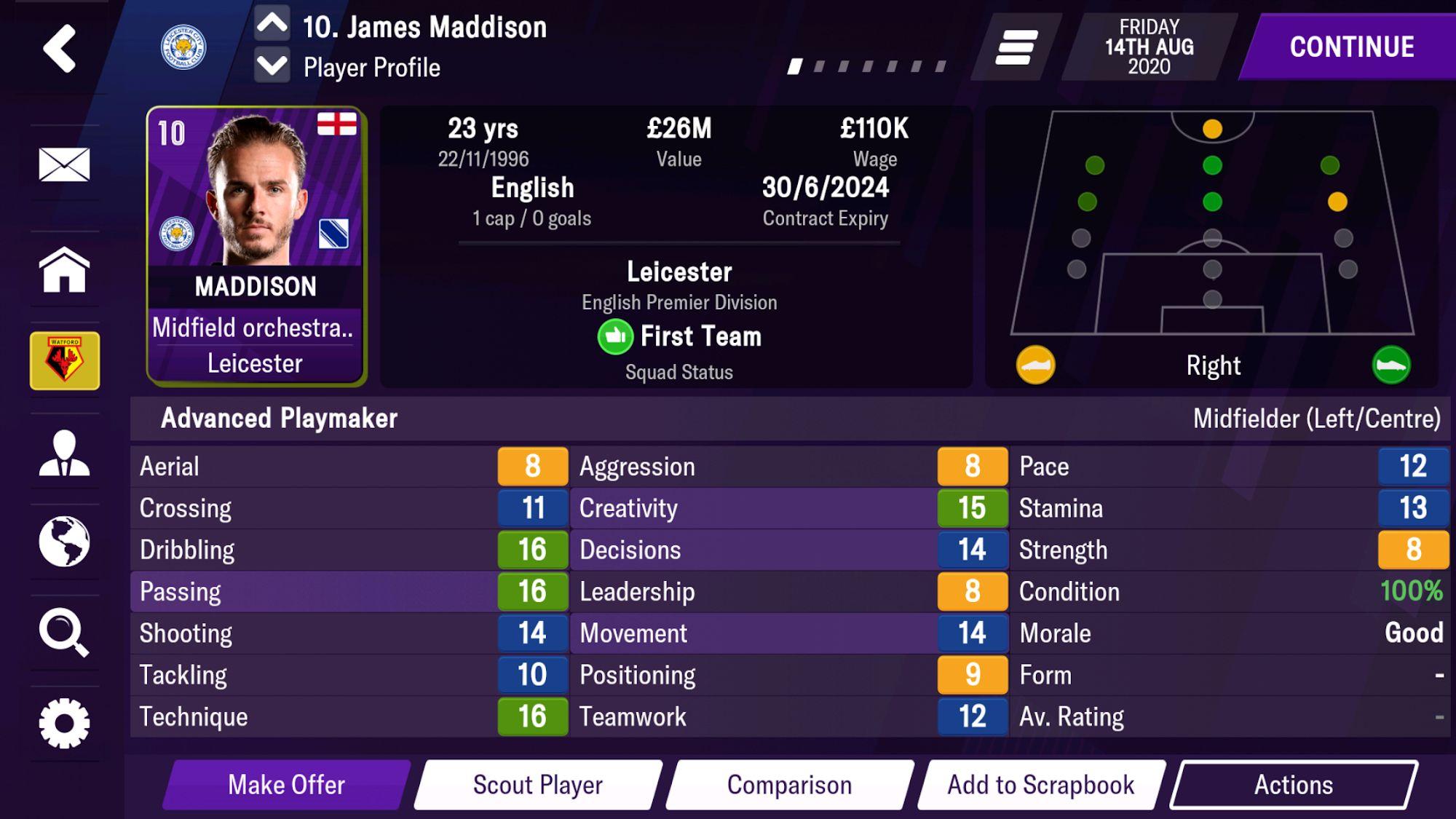 Football Manager 2021 Mobile screenshot 1