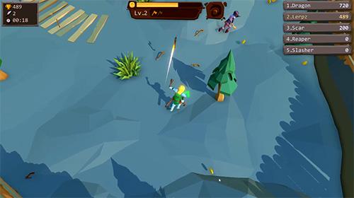 Arcade-Spiele Axe.io: Brutal knights battleground für das Smartphone