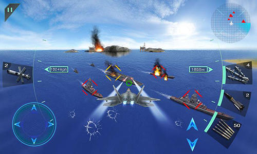 Action Sky fighters 3D für das Smartphone