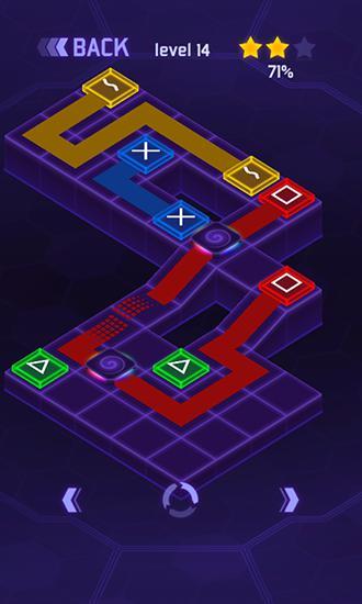 Flow dots: Cyber lines 3D Screenshot