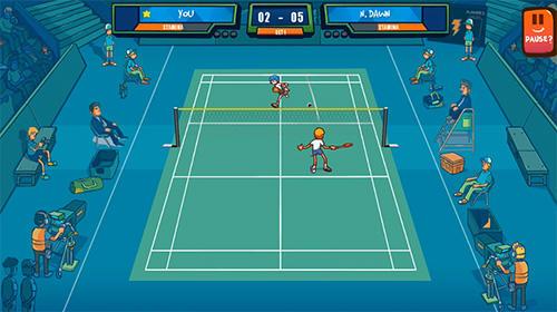 Super stick badminton auf Deutsch