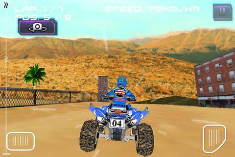 Screenshot ATV quad racer on iPhone