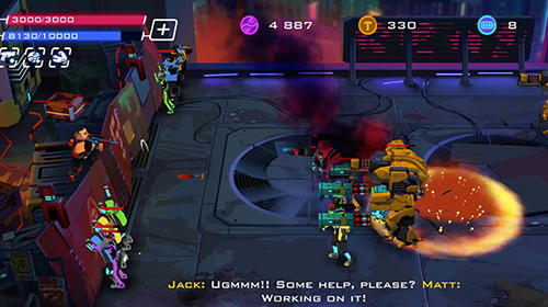 Rise of colonies: Uprising. Cyberpunk 3D action game für Android
