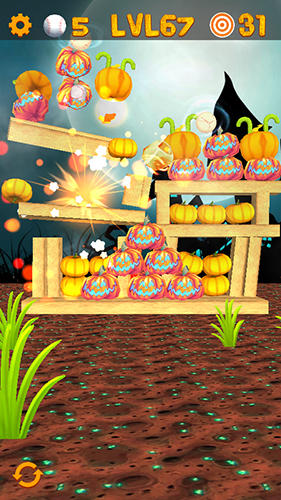 Knockdown the pumpkins 2: Smash Halloween targets screenshot 1