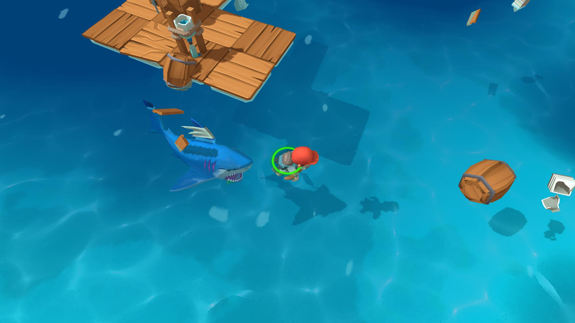 Epic Raft: Fighting Zombie Shark Survival für Android