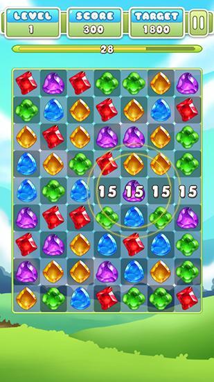 Gem crush. Crazy gem match fever für Android
