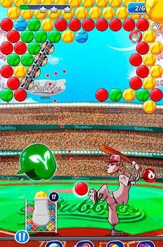 Baseball bubble shooter: Hit a homerun para Android