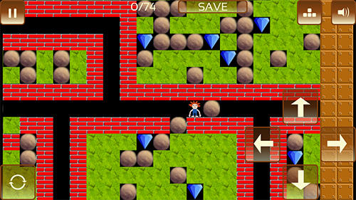 The gem hunter: A classic rocks and diamonds game für Android