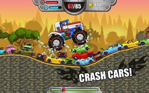 de courses des collines Monster wheels: Kings of crash en français