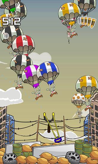 Arcade-Spiele Zombie parachute für das Smartphone