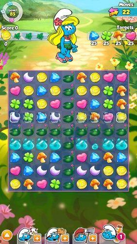 Arcade-Spiele Smurfette's magic match für das Smartphone