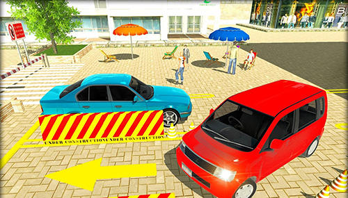 Fahrsimulatoren Parking lot: Real car park sim auf Deutsch