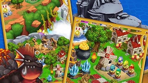 Simulation Dragon x dragon: City sim game für das Smartphone