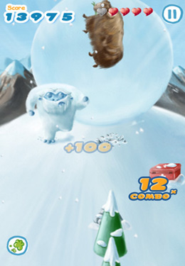 Screenshot Snowball Run on iPhone
