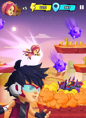 Boboiboy galaxy run: Fight aliens to defend Earth! für Android