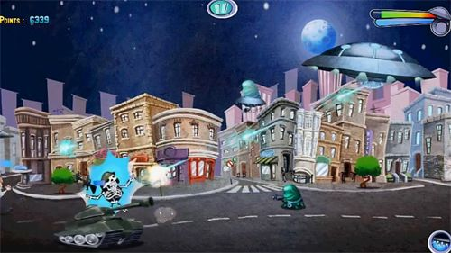 Arcade games: download Invasion: Alien attack to your phone