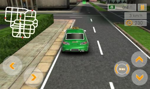 Modern taxi driving 3D captura de tela 1