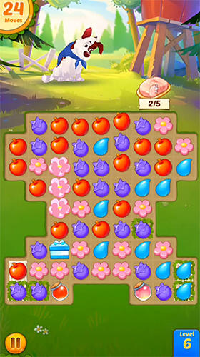Backyard bash: New match 3 pet game para Android