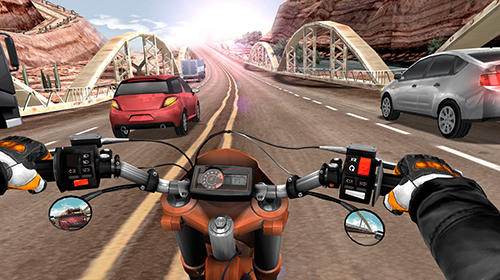 Moto rider in traffic for Android