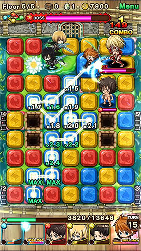 Puzzle monster quest: Attack on titan screenshot 3