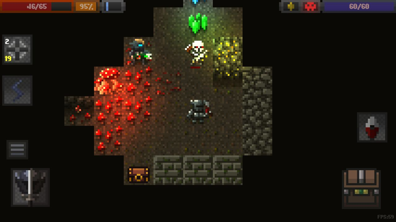 Caves (Roguelike) captura de pantalla 1