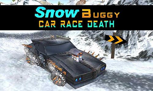 Snow buggy car death race 3D Symbol