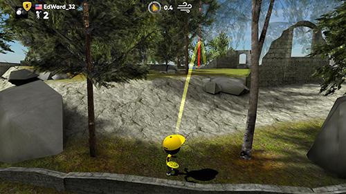 Stickman disc golf battle Screenshot