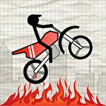 Stick Stunt Biker Symbol