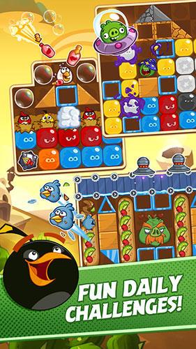 Logikspiele Angry birds blast! für das Smartphone
