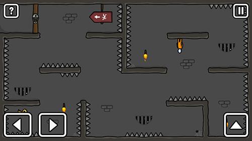 Puzzle-Plattformer One level: Stickman jailbreak auf Deutsch