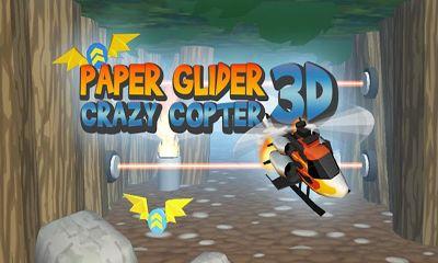 Paper Glider. Crazy Copter 3D Symbol