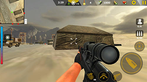 Commando sniper attack: Modern gun shooting war für Android
