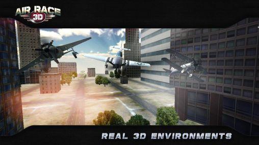 Rennspiele Air race 3D für das Smartphone