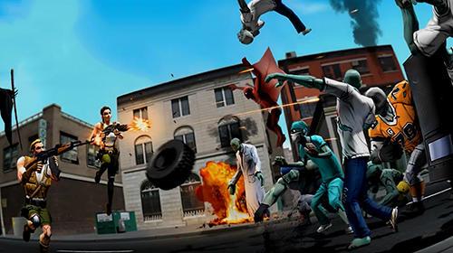 Arcade The running dead: Zombie shooting running FPS game für das Smartphone