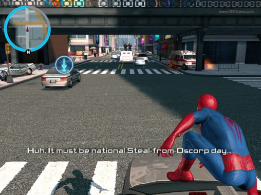 截图The amazing Spider-man 2在iPhone