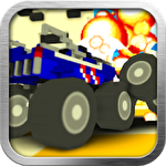 Blocky monster truck smash icono
