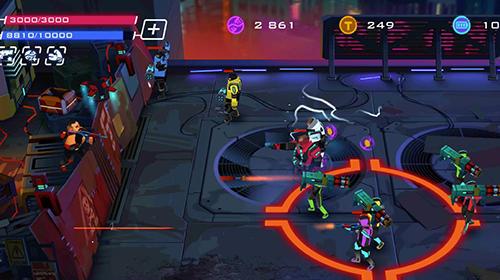 Spiele mit Robotern Rise of colonies: Uprising. Cyberpunk 3D action game auf Deutsch