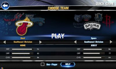 Sports games NBA 2K14 for smartphone